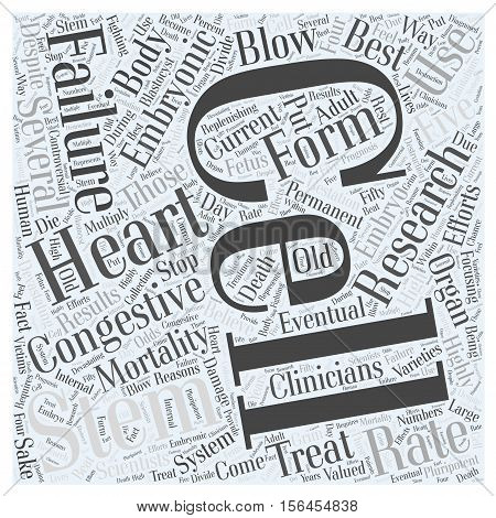 How Can Stem Cells Be Used to Treat Congestive Heart Failure word cloud concept