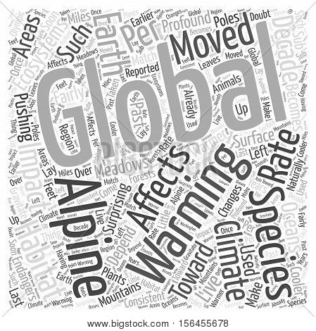 How Global Warming Affects the Ecosystems word cloud concept