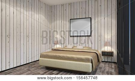 The Bridal Suite. Bedroom. 3D Interior Rendering.