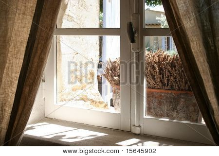 Old window and lavender