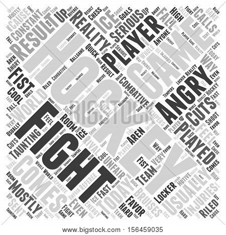 How the game of hockey is played word cloud concept