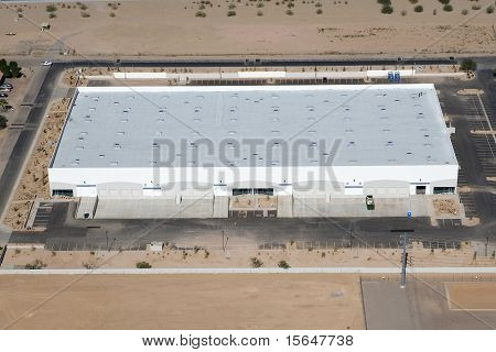 Distribution Warehouse From Above