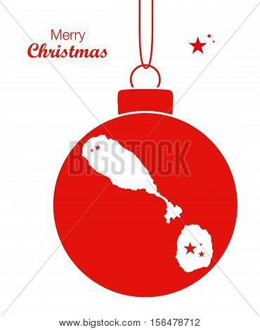 Merry Christmas Map St. Kitts And Nevis