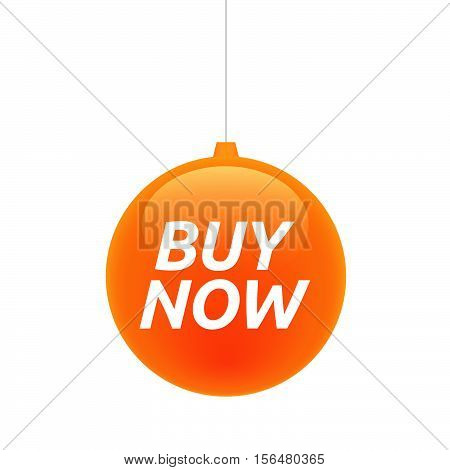 Isolated Christmas Ball With    The Text Buy Now