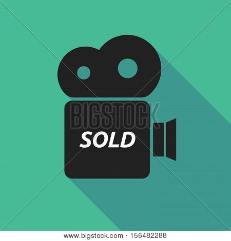 Long Shadow Camera Icon With    The Text Sold