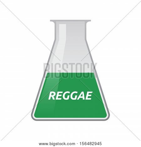 Isolated Test Tube With    The Text Reggae