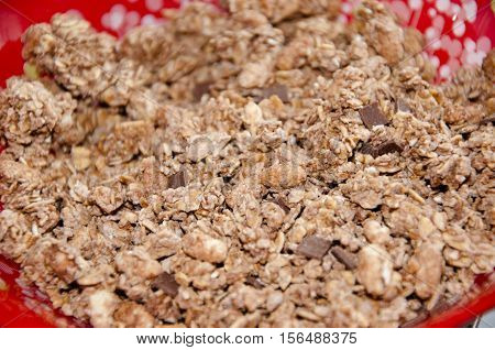Chocolate Crunch Cereal Breakfast