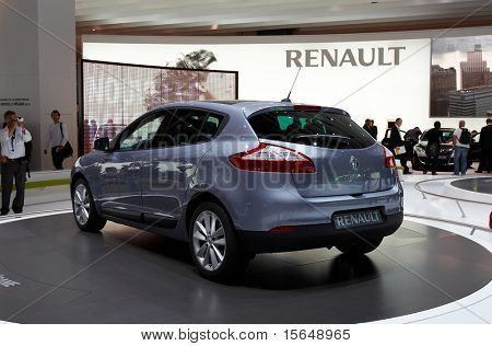 PARIS, FRANCE - OCTOBER 02: Paris Motor Show  on October 02, 2008, showing Renault Megane 5-door, rear view.