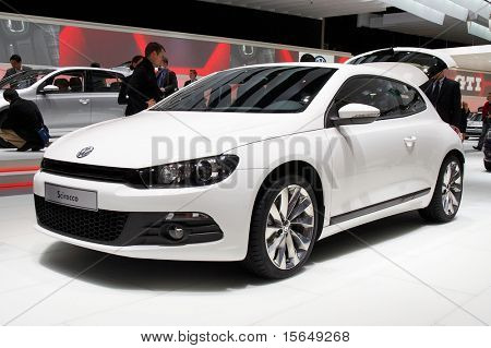 PARIS, FRANCE - OCTOBER 02: Paris Motor Show on October 02, 2008, showing Volkswagen Scirocco, front view