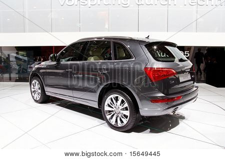 PARIS, FRANCE - OCTOBER 02: Paris Motor Show on October 02, 2008, showing Audi Q5, rear view