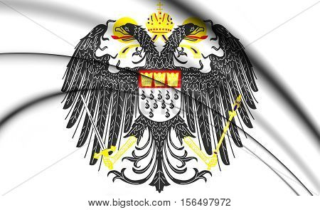 Cologne Coat Of Arms, Germany. 3D Illustration.