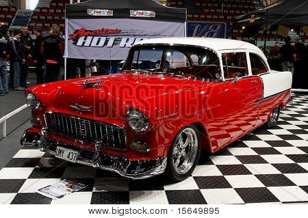 HELSINKI, FINLAND - OCTOBER 3: X-Treme Car Show, showing 1955 Chevrolet 210 on October 3, 2009 in Helsinki, Finland