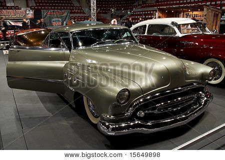 HELSINKI, FINLAND - OCTOBER 3: X-Treme Car Show, showing 1952 Buick Super, front view on October 3, 2009 in Helsinki, Finland
