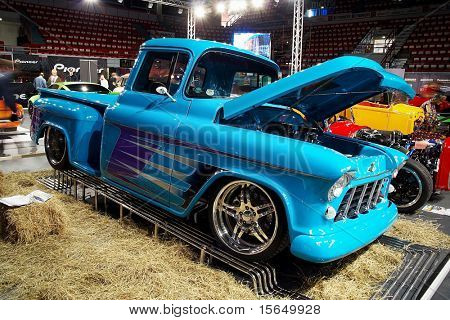 HELSINKI, FINLAND - OCTOBER 3: X-Treme Car Show, showing 1956 Chevrolet Pickup on October 3, 2009 in Helsinki, Finland