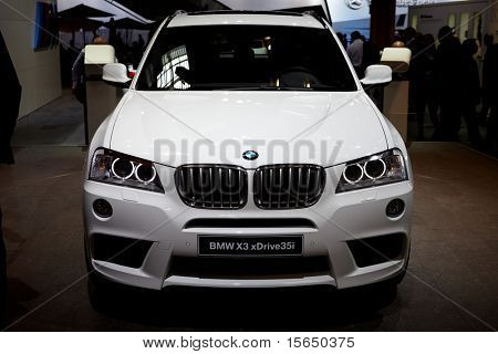 PARIS, FRANCE - SEPTEMBER 30: Paris Motor Show on September 30, 2010, showing BMW X3, front view in Paris.