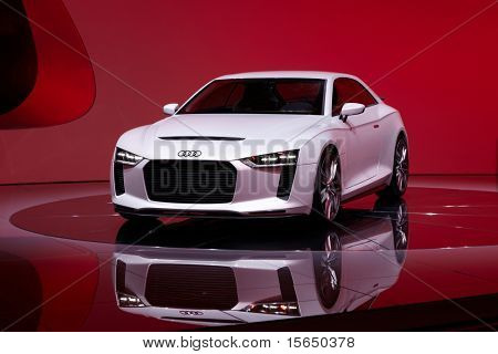 PARIS, FRANCE - SEPTEMBER 30: Paris Motor Show on September 30, 2010, showing Audi quattro concept, front view in Paris.