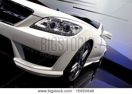 PARIS, FRANCE - SEPTEMBER 30: Paris Motor Show on September 30, 2010, Mercedes-Benz CL63 AMG, front closeup view