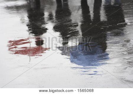 Paris A Rainy Day And Umbrellas