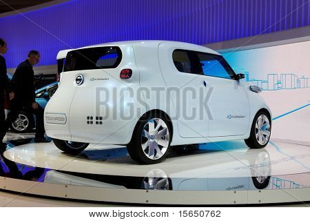 PARIS, FRANCE - SEPTEMBER 30: Paris Motor Show on September 30, 2010 in Paris, showing Nissan Townpod Zero Emission, rear view