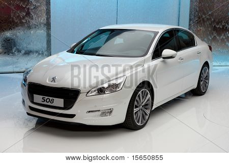 PARIS, FRANCE - SEPTEMBER 30: Paris Motor Show on September 30, 2010 in Paris, showing Peugeot 508 GT, front view