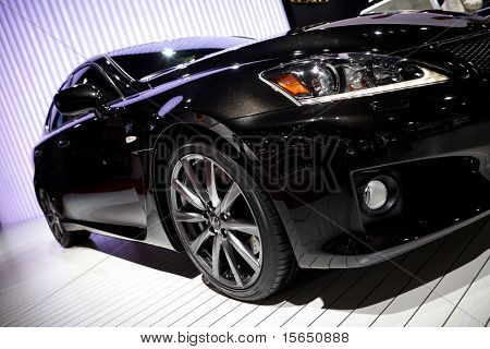 PARIS, FRANCE - SEPTEMBER 30: Paris Motor Show on September 30, 2010 in Paris, showing Lexus IS-F, front detail view