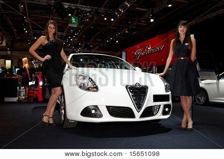 PARIS, FRANCE - SEPTEMBER 30: Alfa Romeo Giulietta at Paris Motor Show on September 30, 2010 in Paris