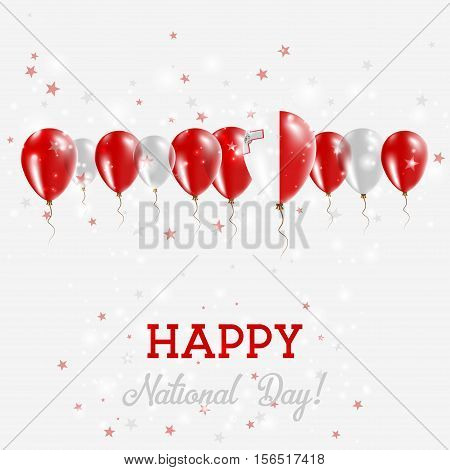 Malta Independence Day Sparkling Patriotic Poster. Happy Independence Day Card With Malta Flags, Con