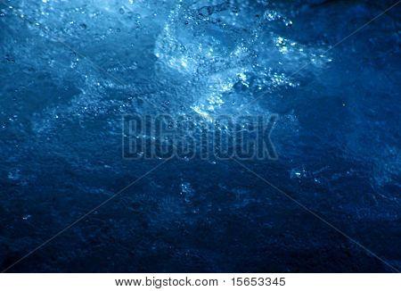 Gushing Blue Water