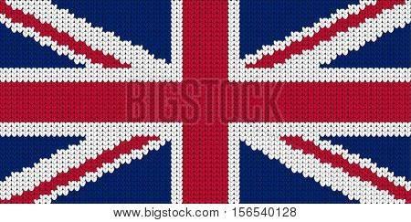 Knitted flag of Great Britain United Kindom