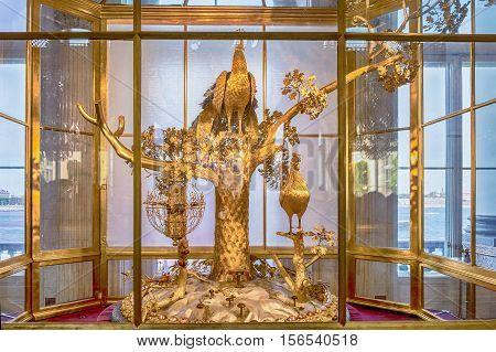 Peacock Clock, Hermitage Museum, St. Petersburg, Russia