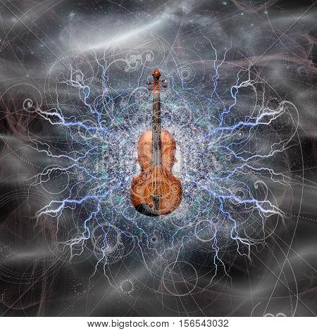 Violin Design   3D Render