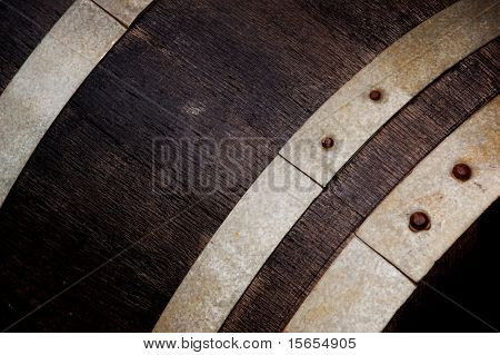 Closeup of a Wine Barrel