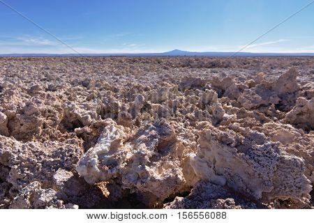 Natural salt formations, Salar de Atacama, Chile.