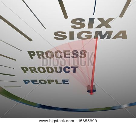 Six Sigma - Speedometer Speeding To Certification
