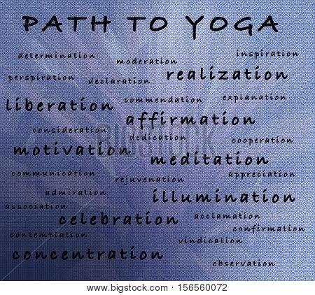Text description of benefits of yoga practice