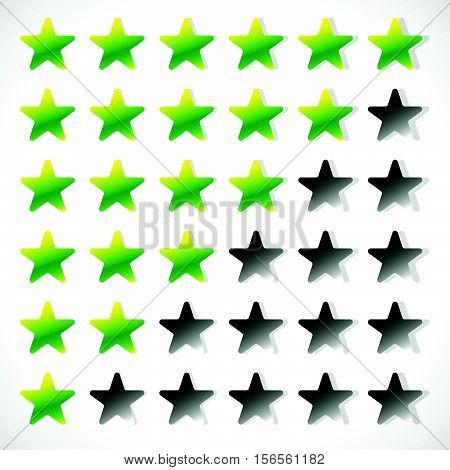 Star Rating With 6 Stars - Rating, Feedback, Rating Concept