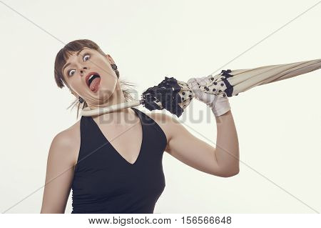 Woman Strangled By Umbrella