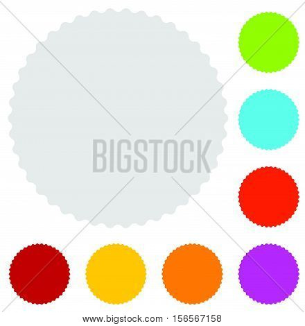 Starburst Badge Shape In 8 Color. Starburst, Price Flash Icons