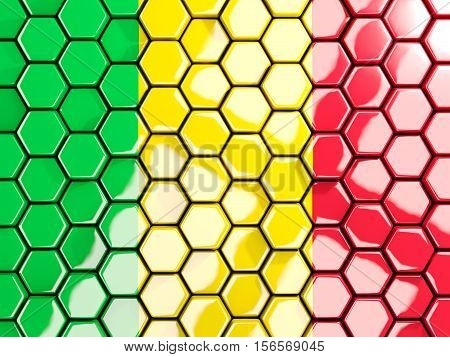 Flag Of Mali, Hexagon Mosaic Background