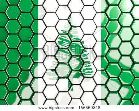Flag Of Norfolk Island, Hexagon Mosaic Background