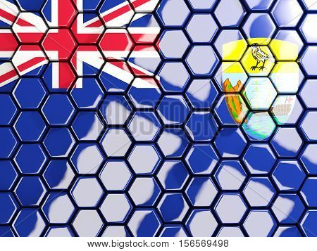 Flag Of Saint Helena, Hexagon Mosaic Background