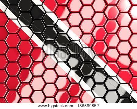 Flag Of Trinidad And Tobago, Hexagon Mosaic Background