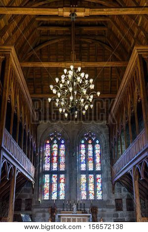Interior of Chapel, Palace of the Dukes of Braganza, Guimaraes, Portugal