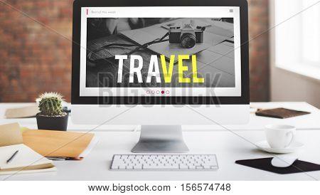Travel Adventure Website Internet Blog Online Concept