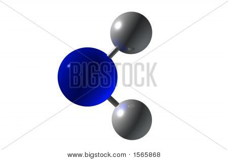 3D Render H2O Molecule For Health