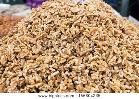 walnuts for sale at local city market