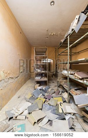 Empty Destroyed Office