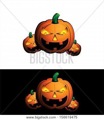 Halloween pumpkin icon / vector character design