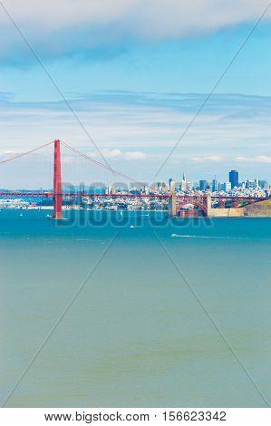 San Francisco Golden Gate Bridge View Telephoto