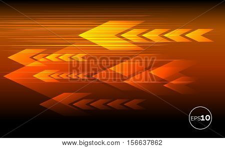 Abstract tech motion lines and arrows parallel concept. Vector technology background